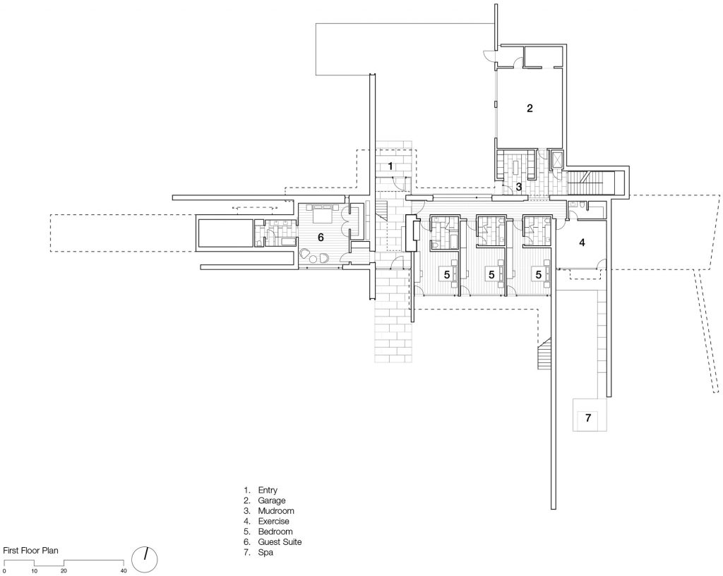 First Floor Plan - Independence Pass Residence - Northstar Dr, Aspen, CO, USA