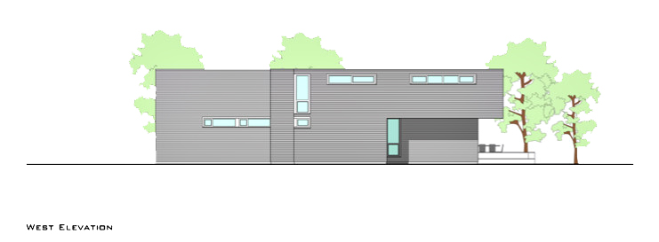 West Elevation - Fieldview Residence - 28 Fieldview Ln, East Hampton, NY, USA