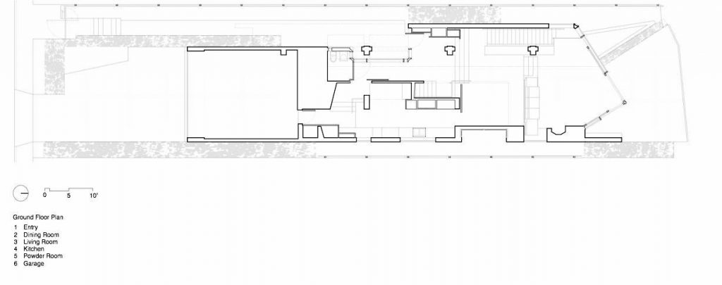 Ground Floor Plan - Shaw House Residence - Point Grey Rd, Vancouver, BC, Canada