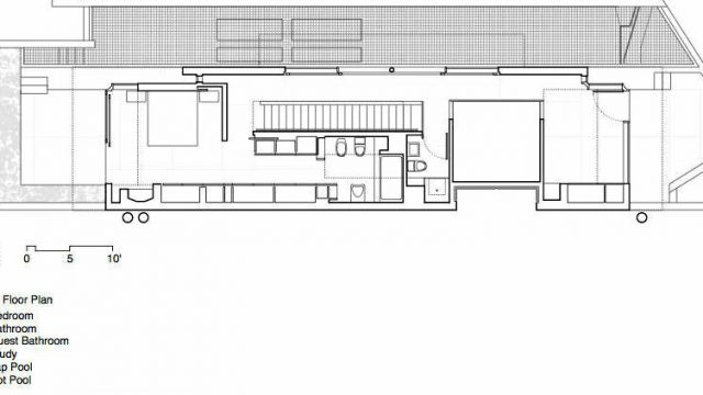 Upper Floor Plan - Shaw House Residence - Point Grey Rd, Vancouver, BC, Canada