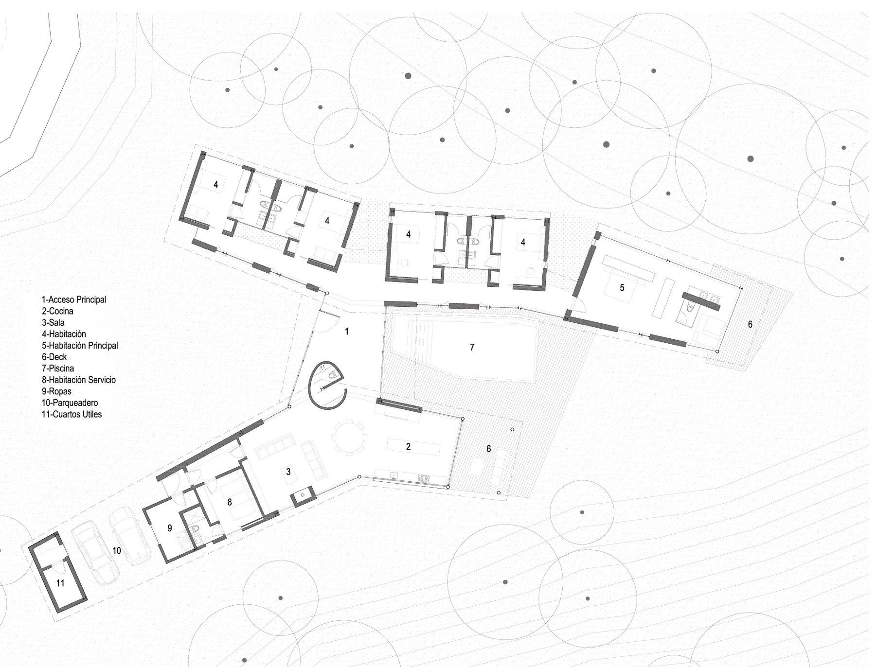Floor Plans - Gozu House Luxury Residence - El Retiro, Antioquia, Colombia