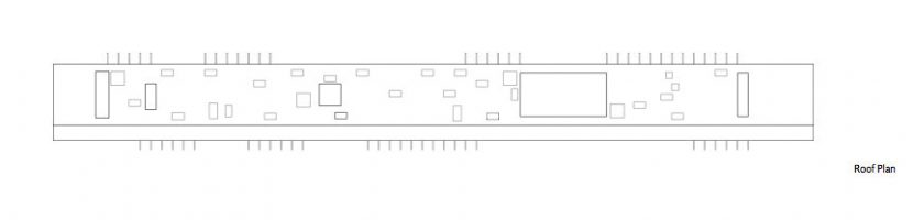 Roof Plan - Linear House - Fernwood Rd, Salt Spring Island, BC, Canada