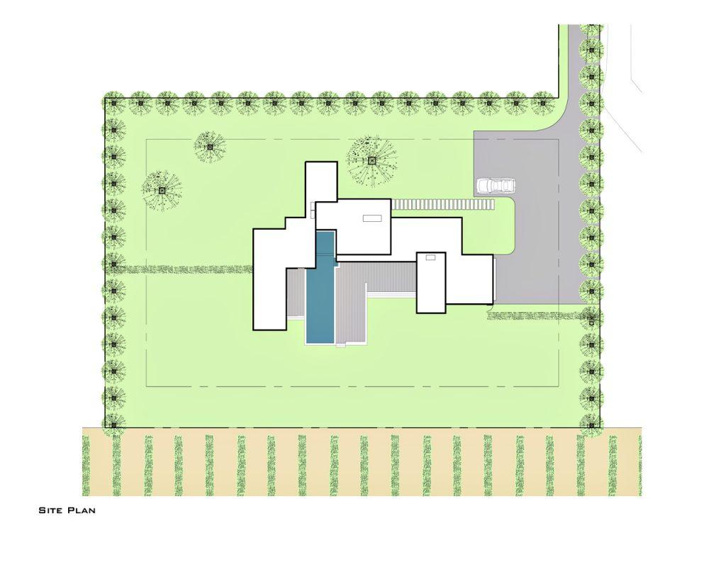 Site Plan - Fieldview Residence - 28 Fieldview Ln, East Hampton, NY, USA
