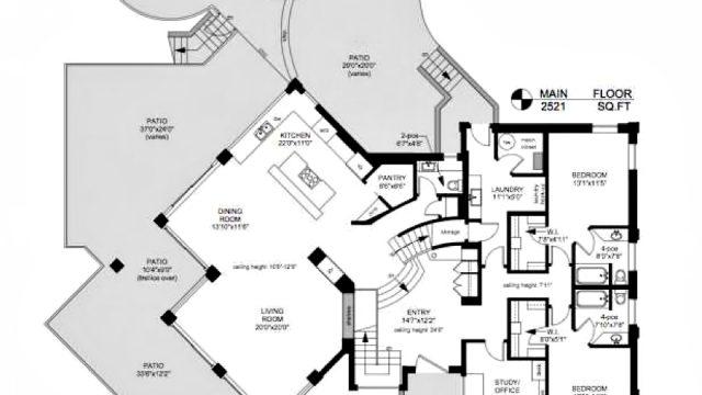 Main Floor Plan - Armada House Residence - Arbutus Rd, Victoria, BC, Canada