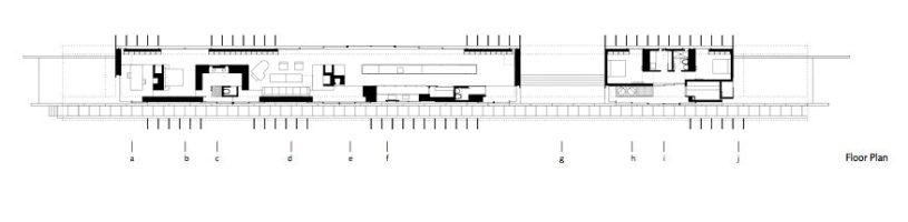 Floor Plan - Linear House - Fernwood Rd, Salt Spring Island, BC, Canada