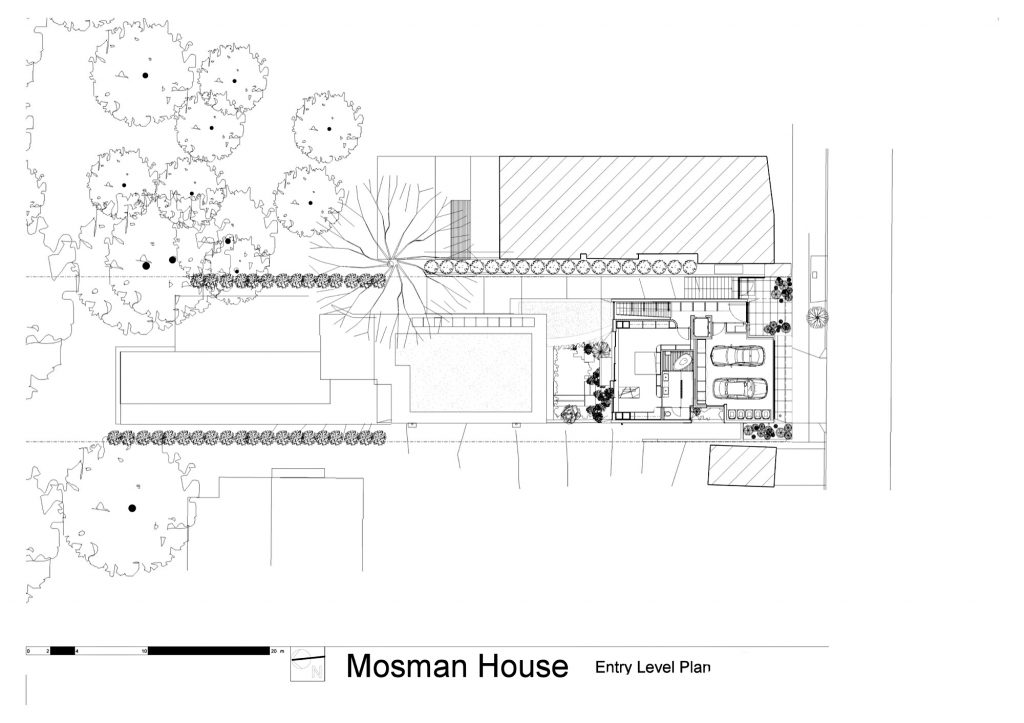 Entry Level Floor Plan - Mosman House Residence - Sydney, New South Wales, Australia