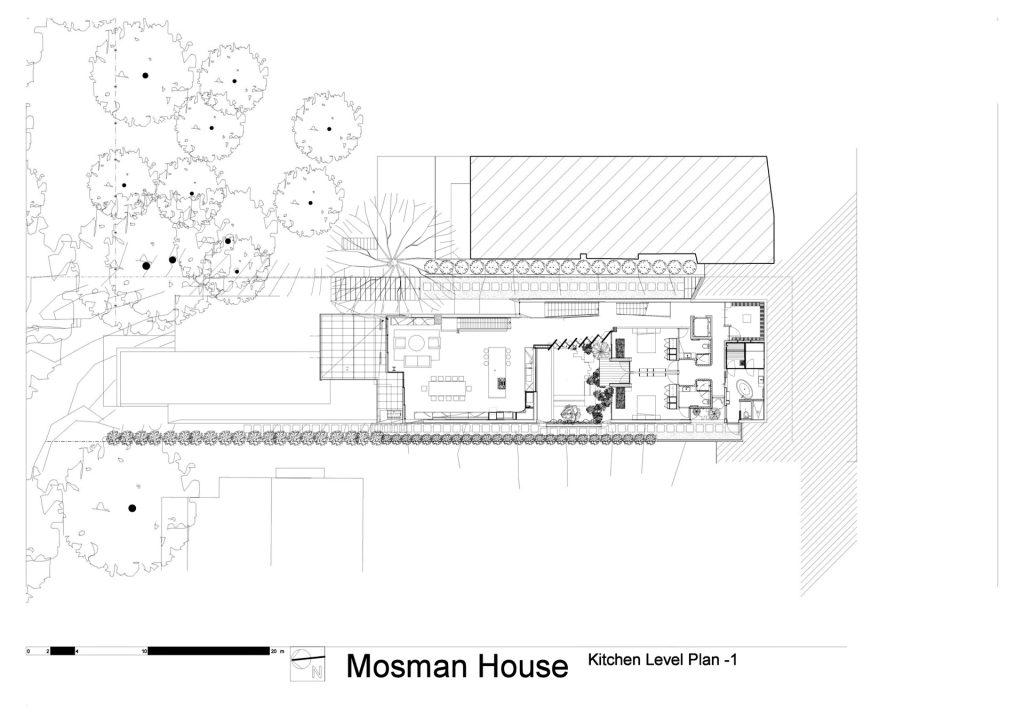 Kitchen Level Floor Plan - Mosman House Residence - Sydney, New South Wales, Australia