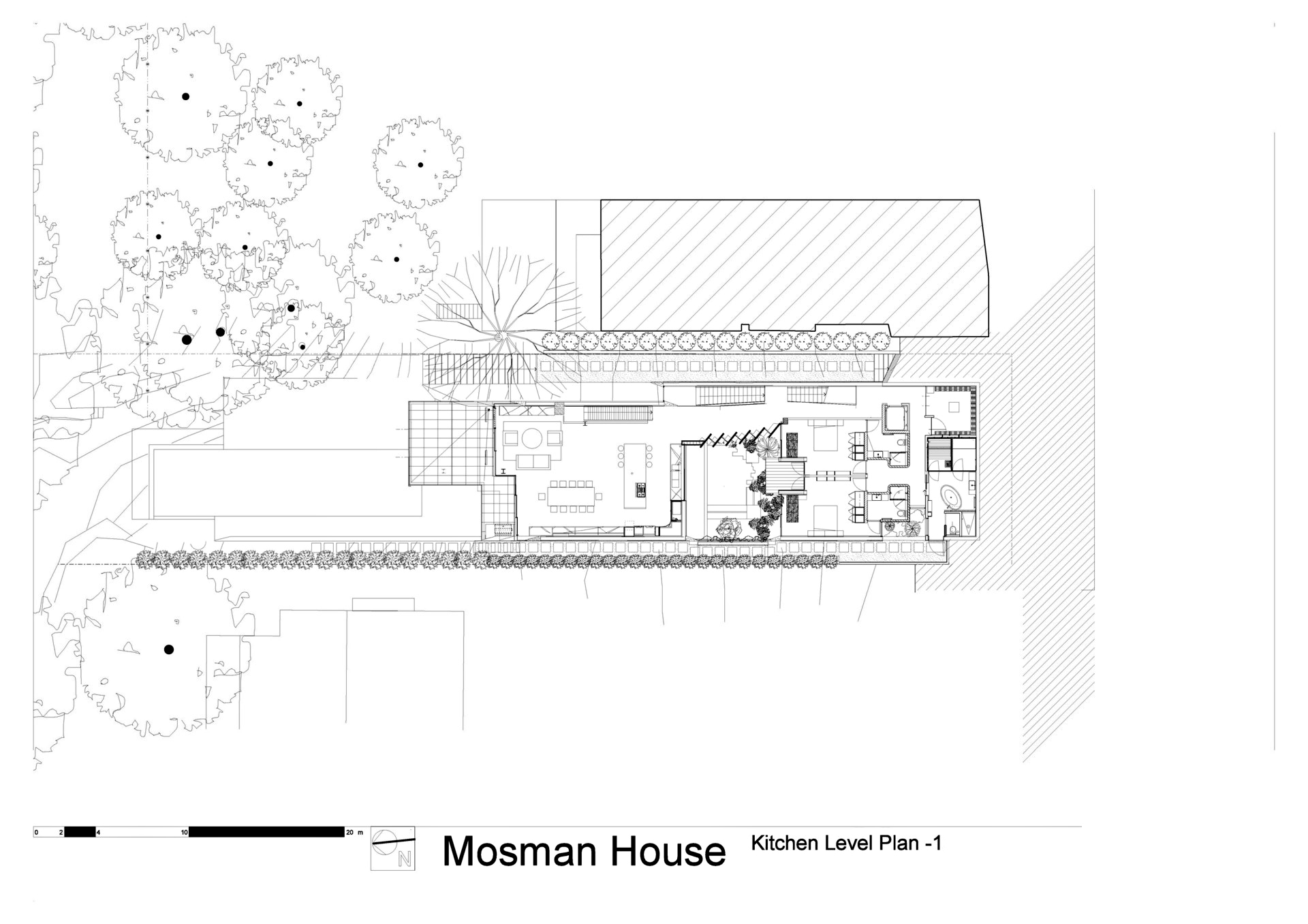 Kitchen Level Floor Plan - Mosman House Residence - Sydney, New South Wales, Australia
