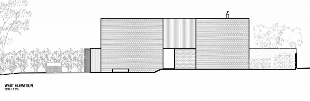 Elevation - Hidden House Residence - Elsternwick, Melbourne, Victoria, Australia