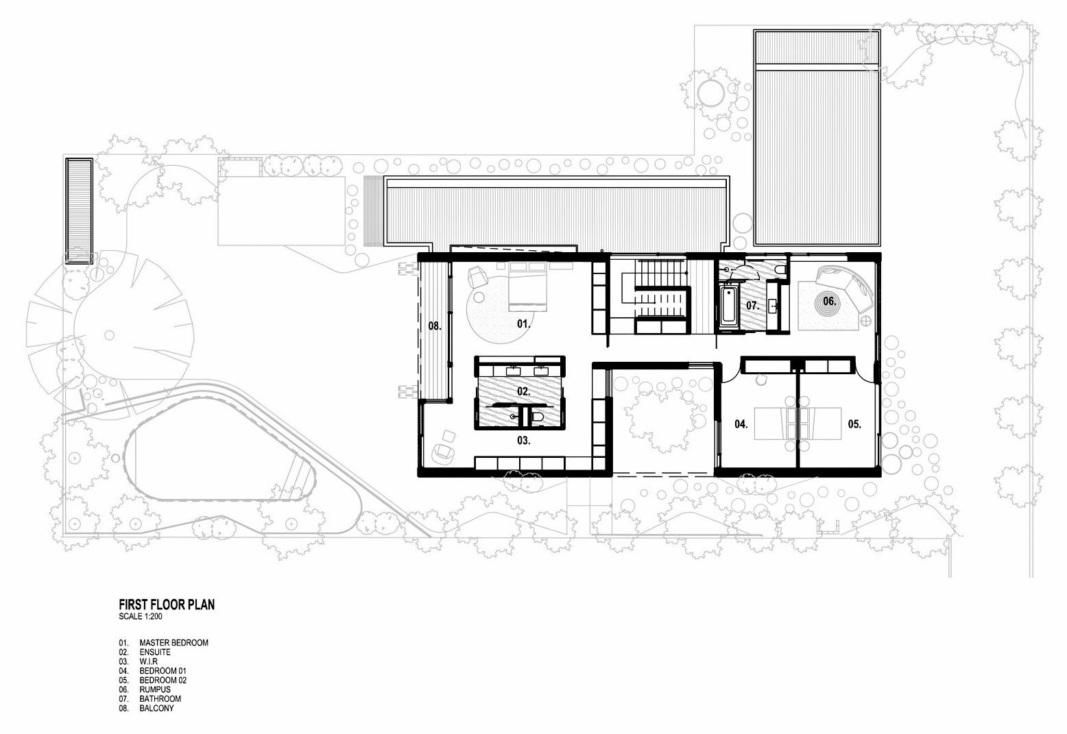 Floor Plan – Hidden House Luxury Residence – Elsternwick