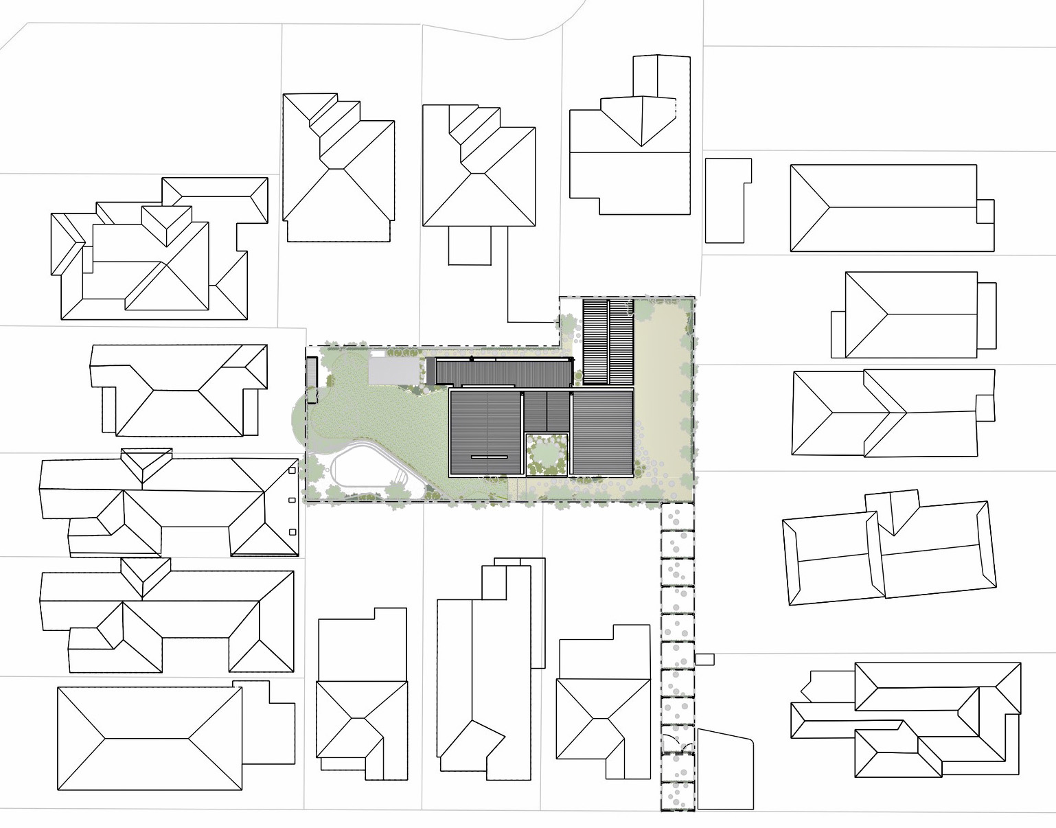 Site Plan - Hidden House Luxury Residence - Elsternwick, Melbourne, Victoria, Australia