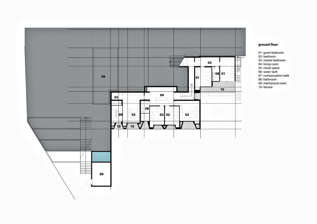 Ground Floor Plan - Fidar Beach House Luxury Residence - Fidar, Jbeil, Lebanon