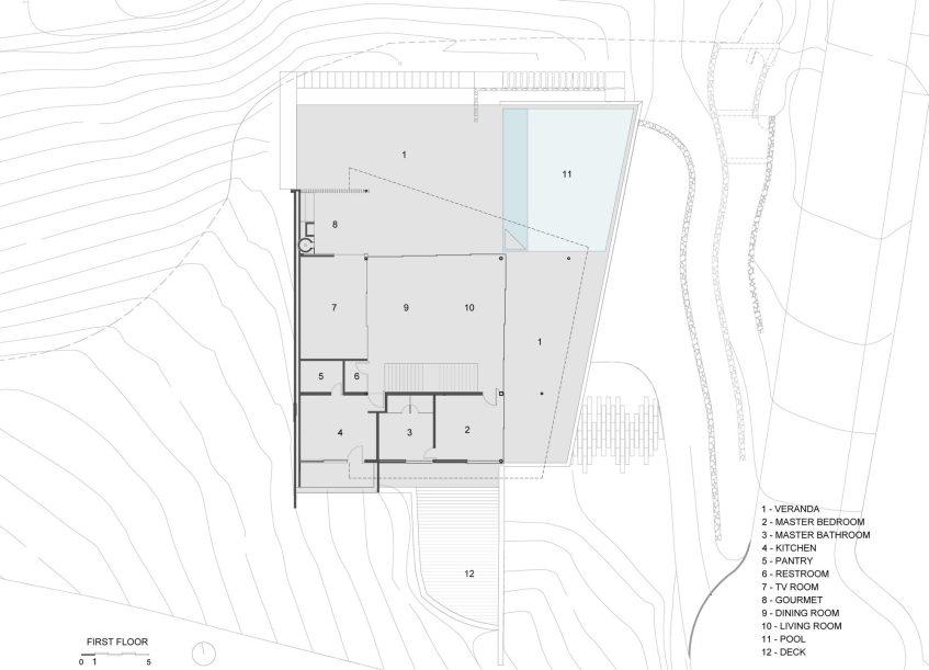 Access Floor Plan - Casa Delta Luxury Residence - Guarujá, São Paulo, Brazil