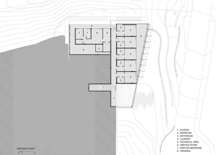 First Floor Plan - Casa Delta Luxury Residence - Guarujá, São Paulo, Brazil