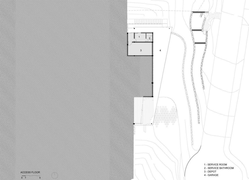 Ground Floor Plan - Casa Delta Luxury Residence - Guarujá, São Paulo, Brazil