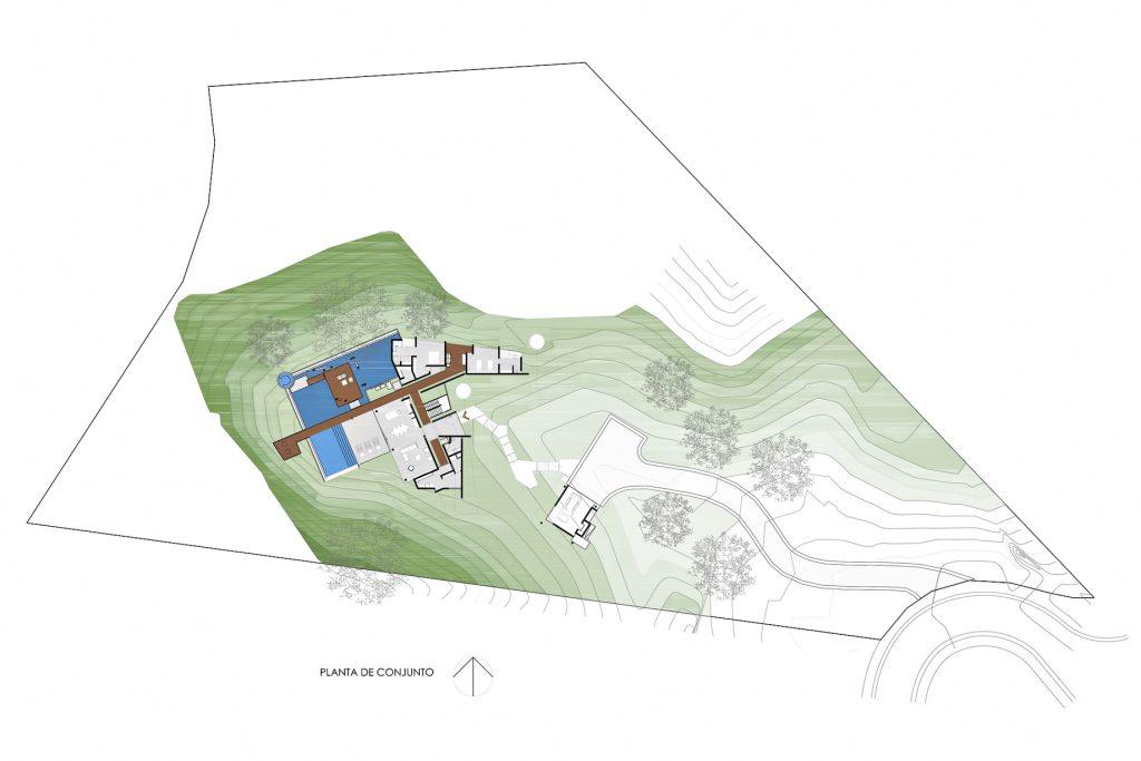 Site Plan - Indios Desnudos House - Papagayo Peninsula, Guanacaste, Costa Rica