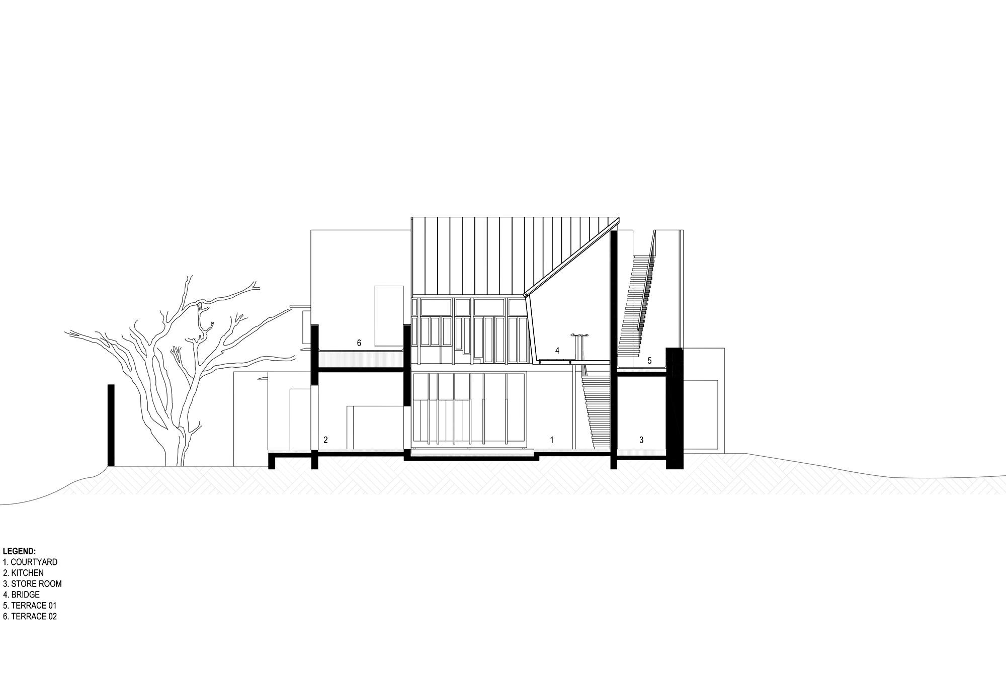Elevation – Shadow House Luxury Residence – Mumbai, Maharashtra, India