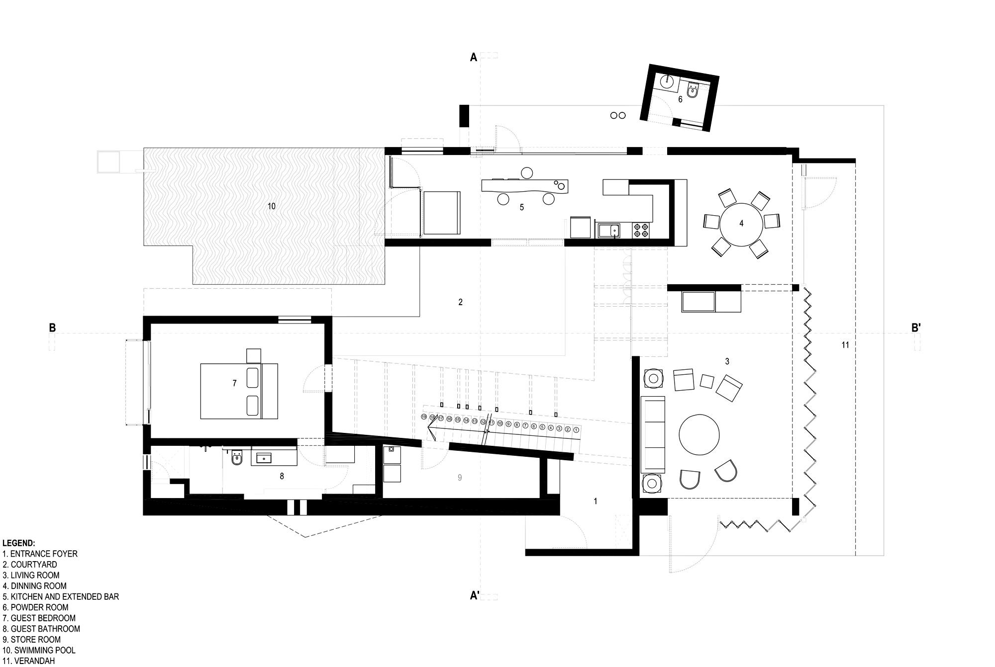 Floor Plans – Shadow House Luxury Residence – Mumbai, Maharashtra, India
