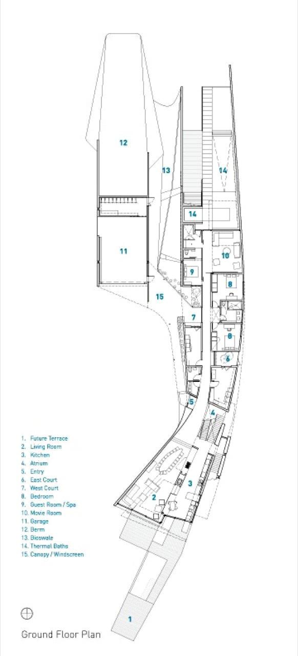 Ground Floor Plan - Port Hope Residence - Lakeshore Rd, Port Hope, ON, Canada