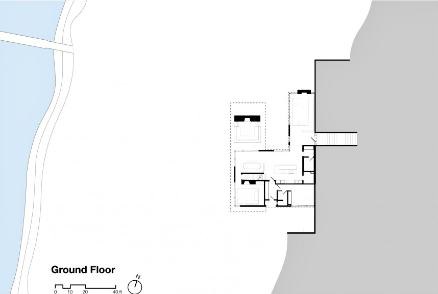 Ground Floor Plan - Shore House Luxury Residence - Sag Harbor, NY, USA