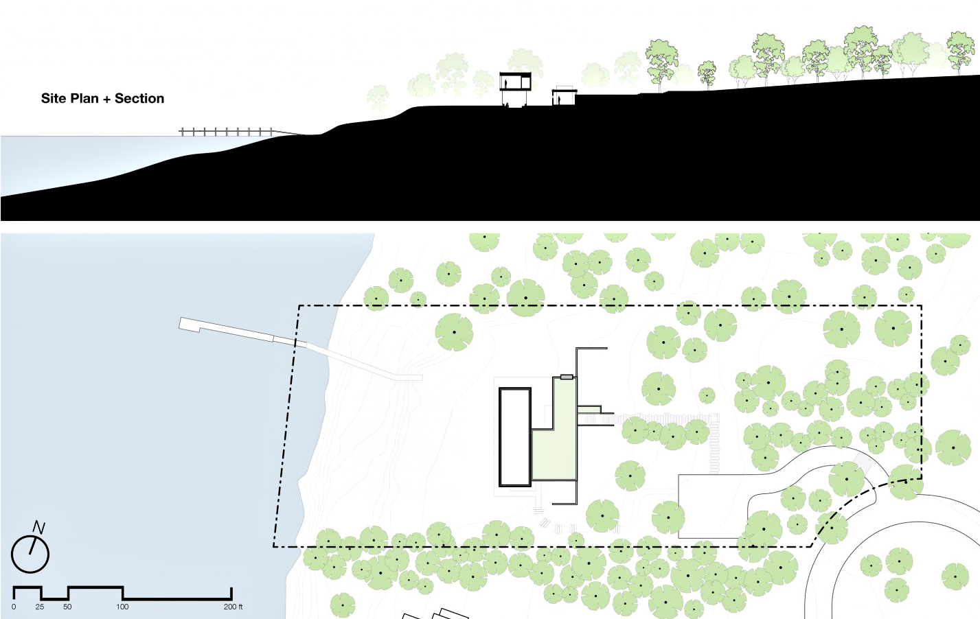 Site Plan - Shore House Luxury Residence - Sag Harbor, NY, USA
