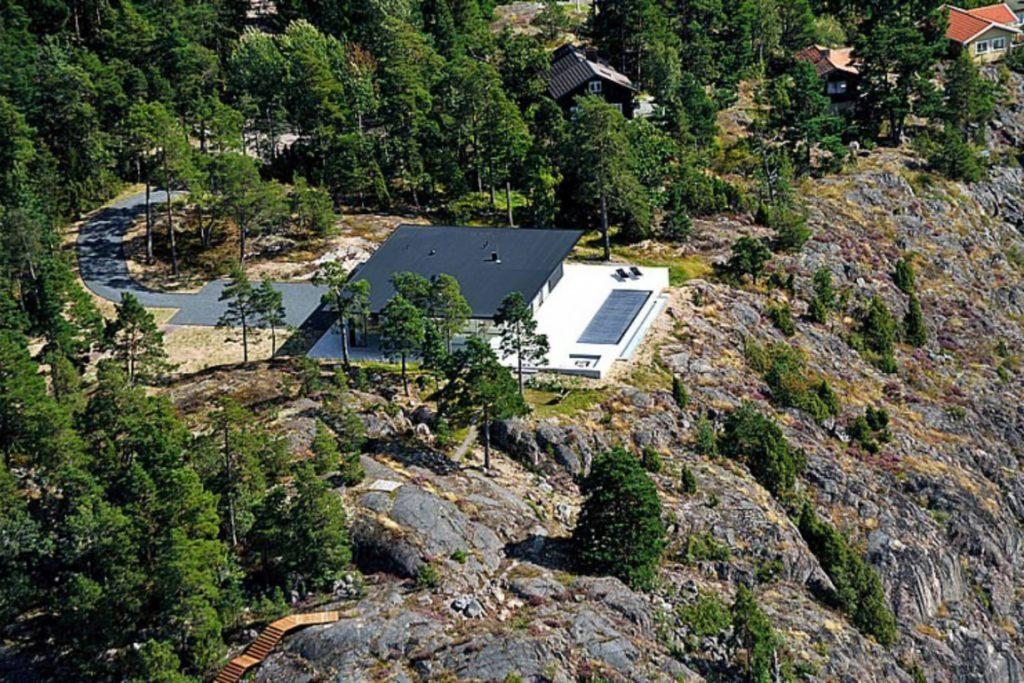 Aerial - Villa Overby Luxury Residence - Värmdö, Stockholm, Sweden