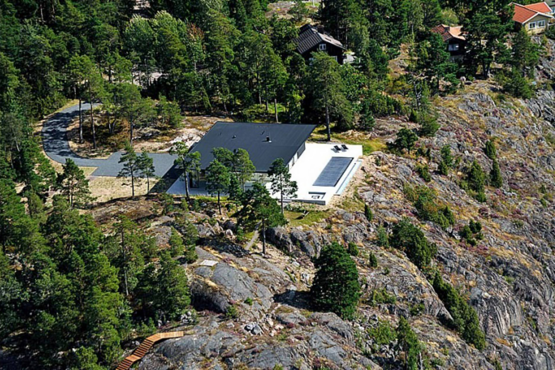 Aerial – Villa Overby Luxury Residence – Värmdö, Stockholm, Sweden