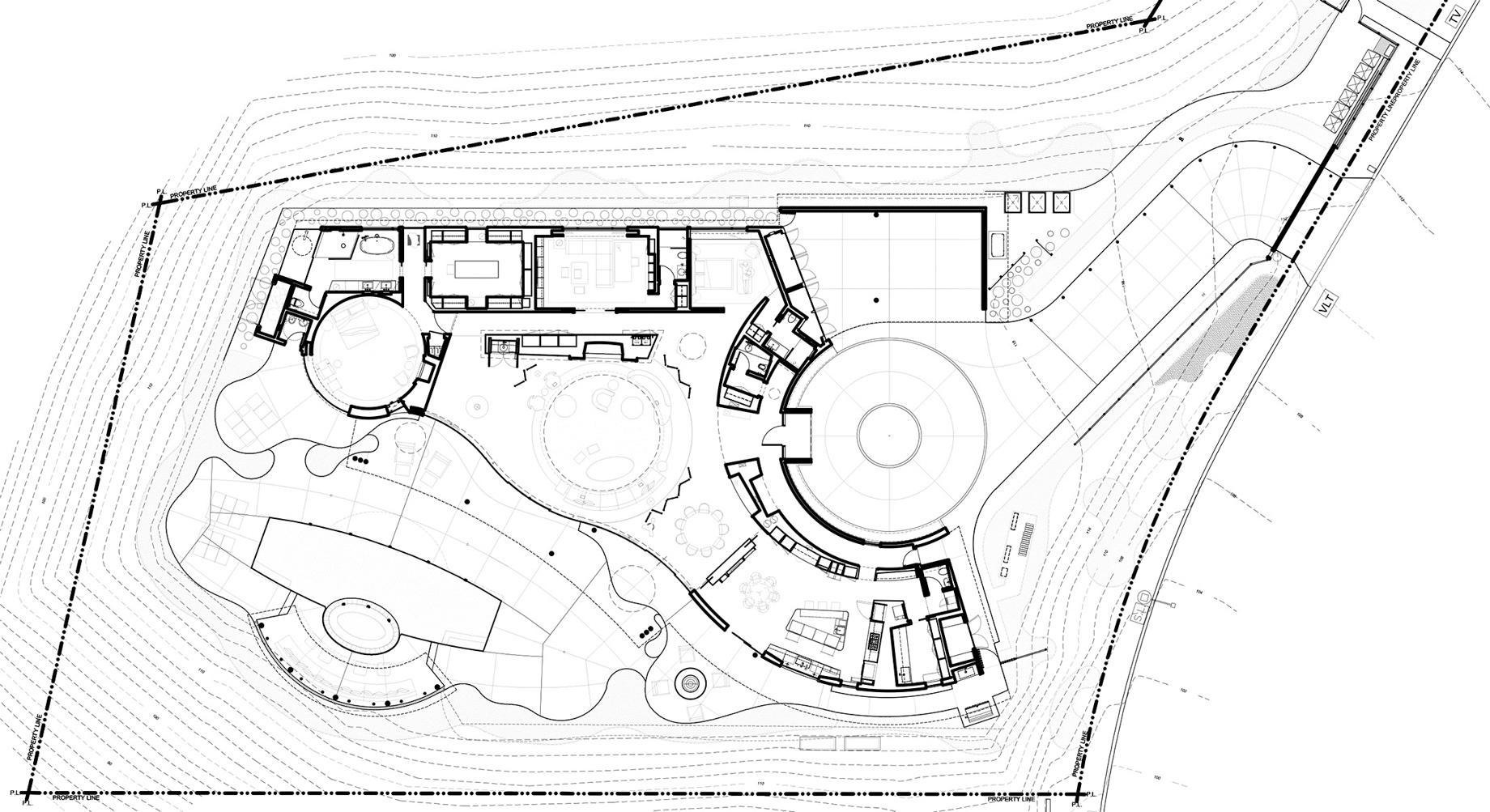 Floor Plans - Trousdale Estates Modern - 1935 Carla Ridge, Beverly Hills, CA, USA