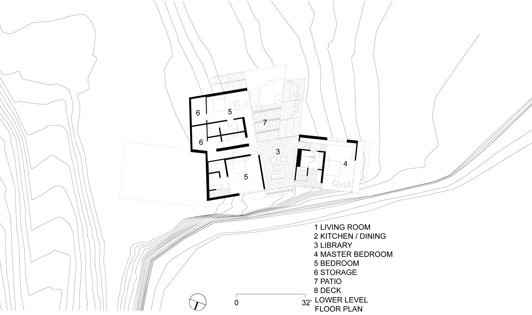 Floor Plans - Fall House Luxury Residence - Cabrillo Hwy, Big Sur, CA, USA