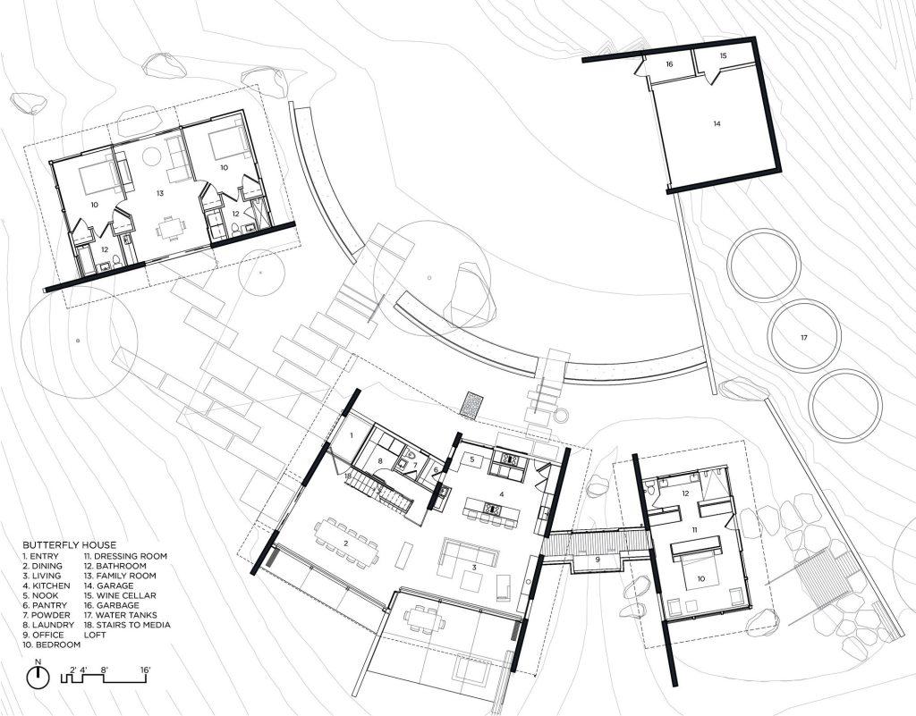 Floor Plans - Butterfly House - Santa Lucia Preserve, Carmel, CA, USA