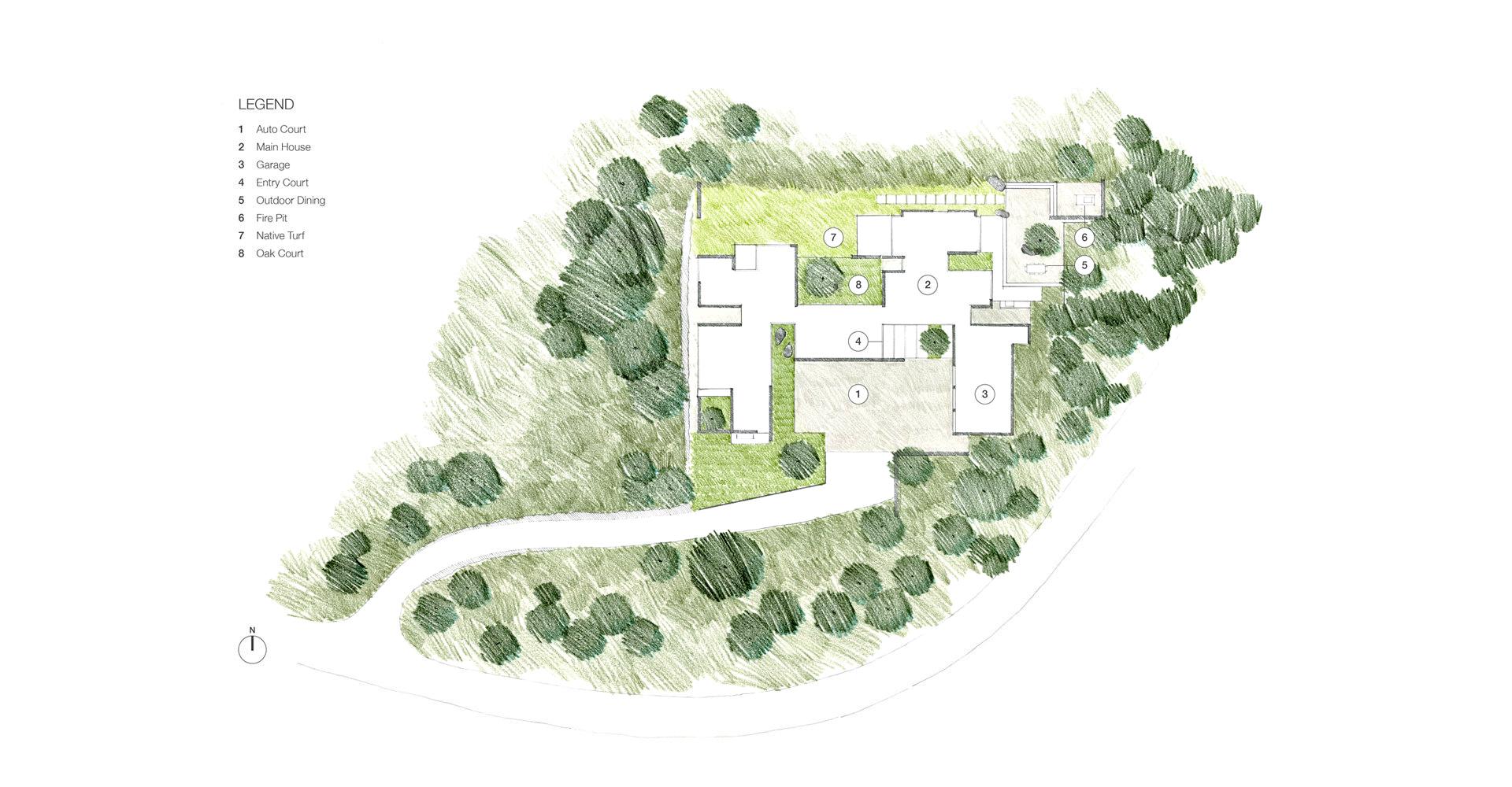 Site Plan - Carmel Ridge Residence - Santa Lucia Preserve, Carmel, CA, USA