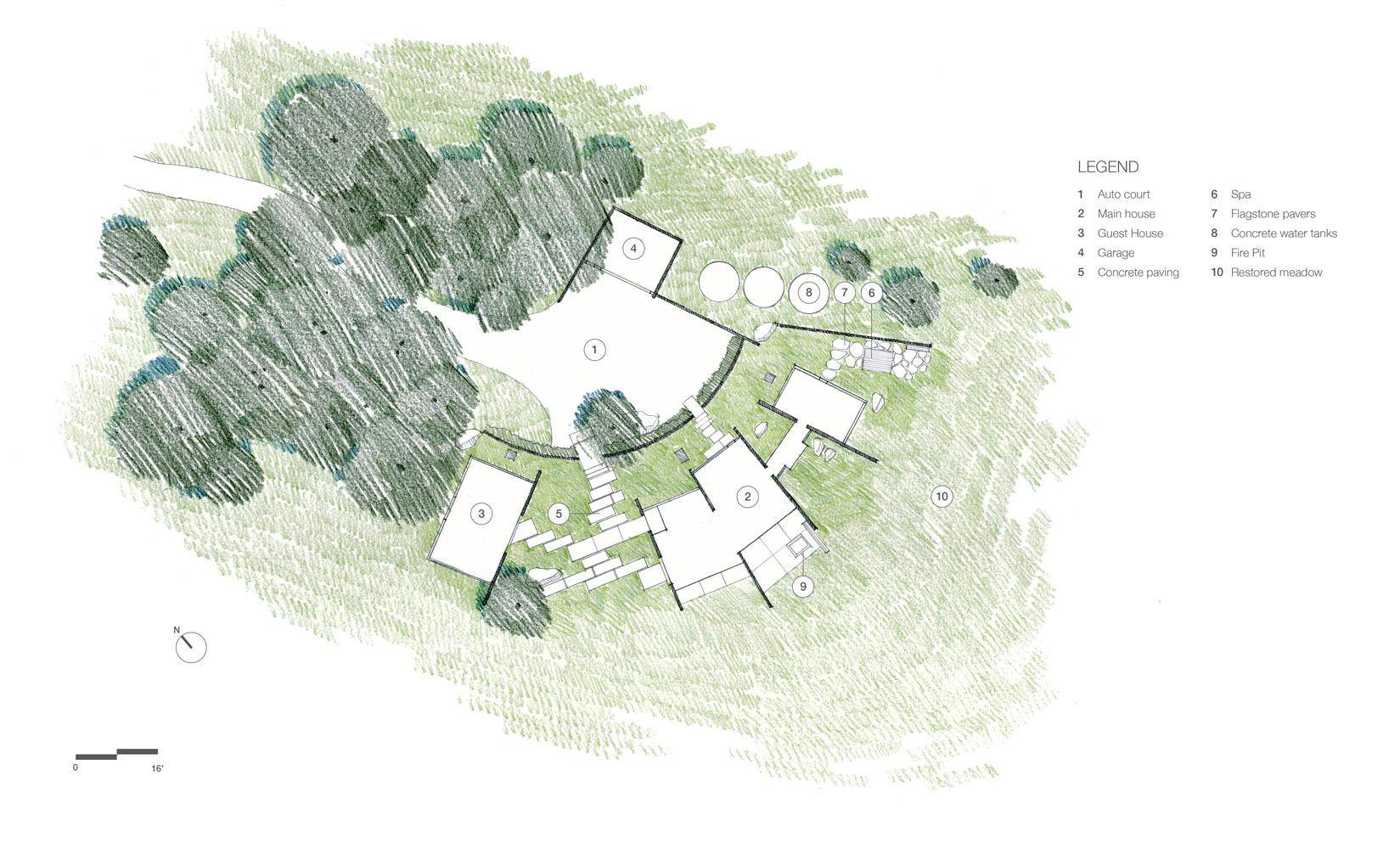 Site Plan - Butterfly House - Santa Lucia Preserve, Carmel, CA, USA