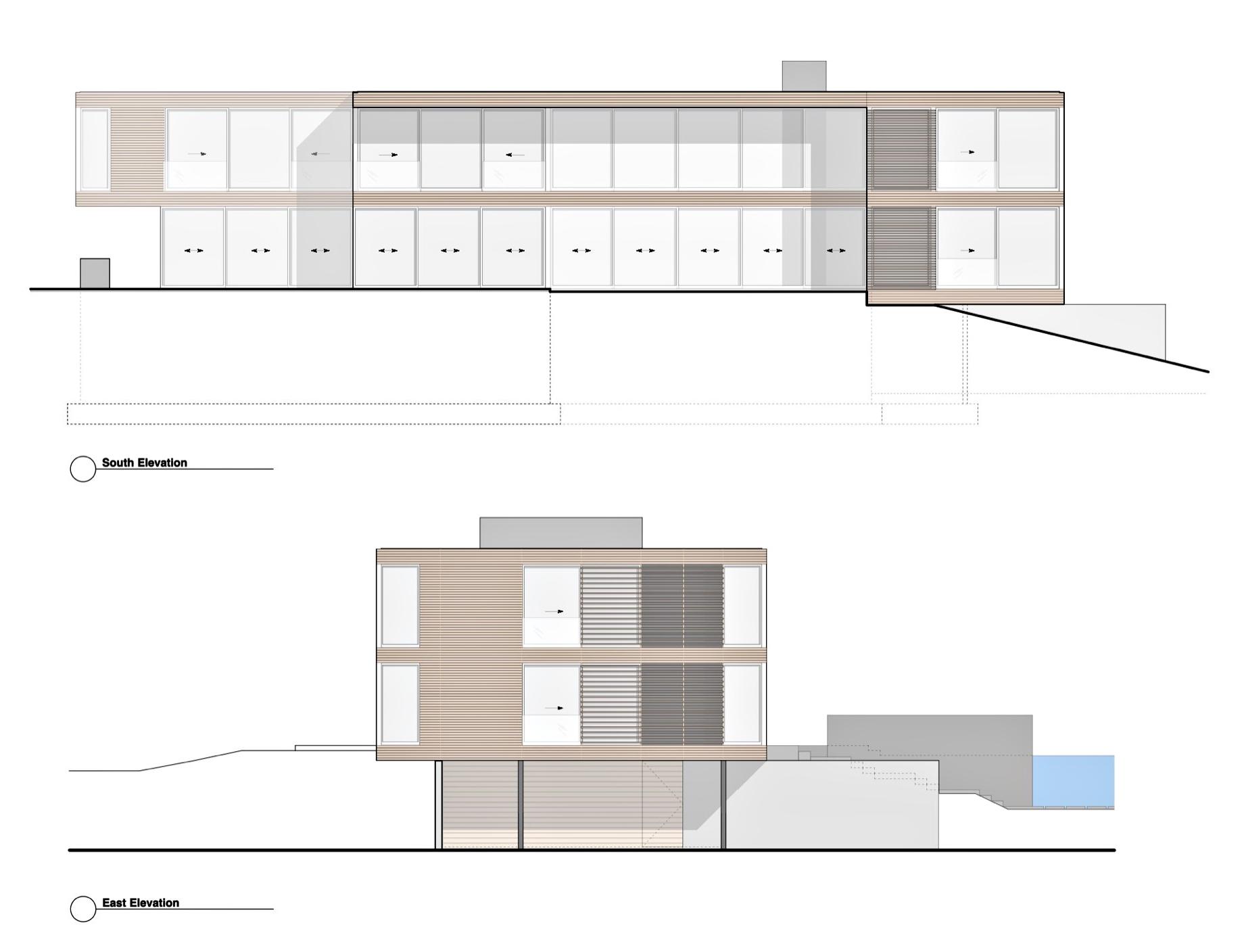 Elevation - Field House Residence - Fairfield Pond Ln, Sagaponack, NY, USA