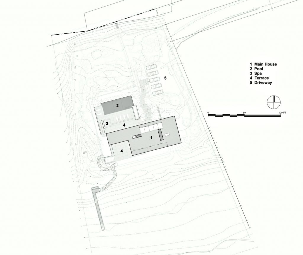 Site Plan - Field House Residence - Fairfield Pond Ln, Sagaponack, NY, USA
