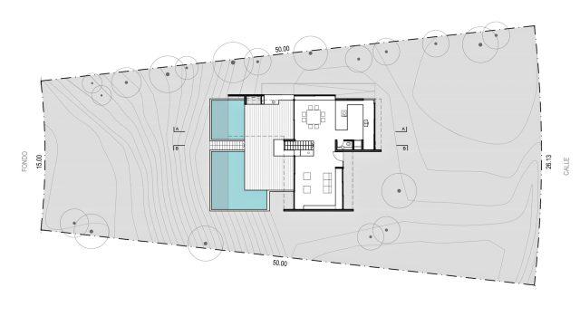 Site Plan - Casa en la Duna - Costa Esmeralda, Buenos Aires, Argentina