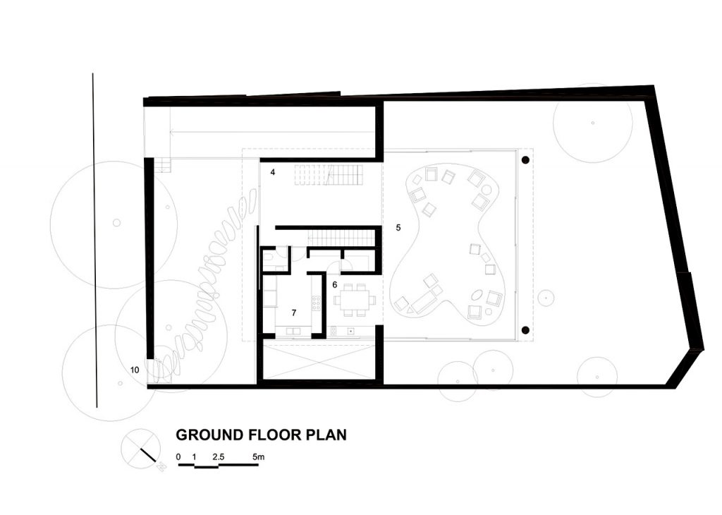 Ground Floor Plan - Cubo House Luxury Residence - Jardins, São Paulo, Brazil