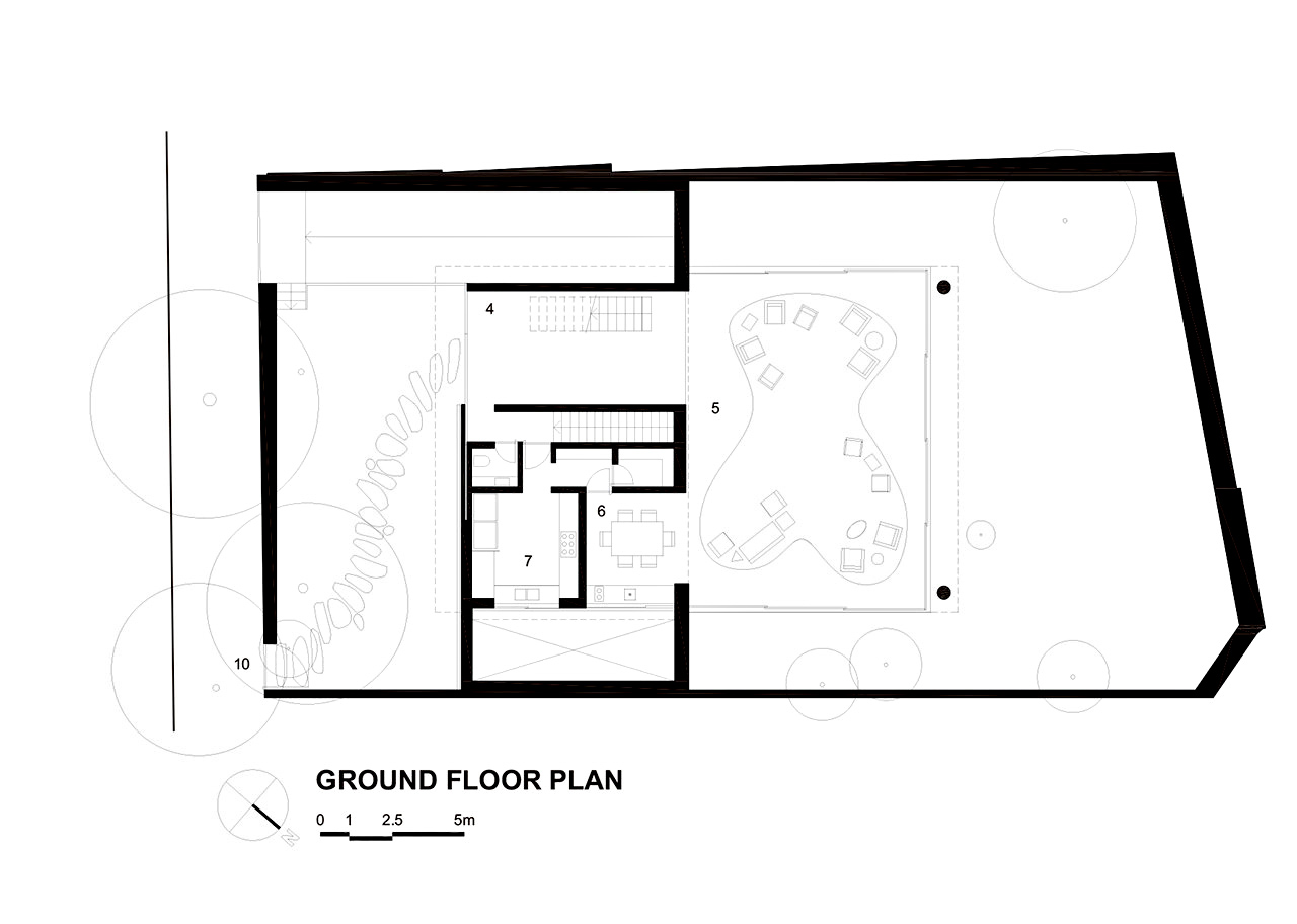 Ground Floor Plan – Cubo House Luxury Residence – Jardins, São Paulo, Brazil