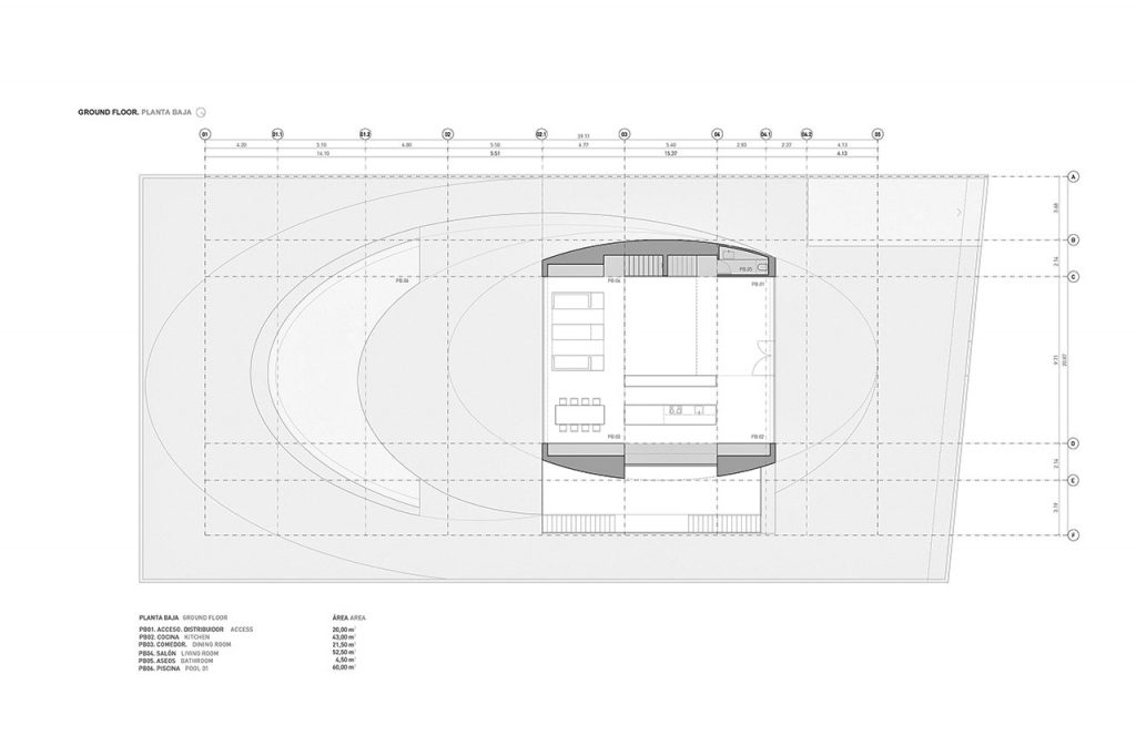 Ground Floor Plan - Casa Balint Luxury Residence - Bétera, València, Spain