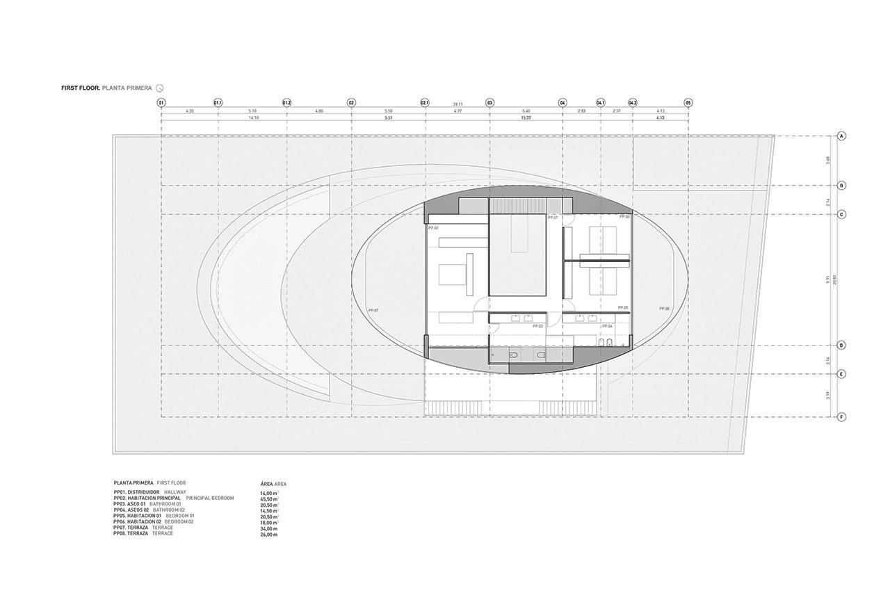 First Floor Plan – Casa Balint Luxury Residence – Bétera, València, Spain