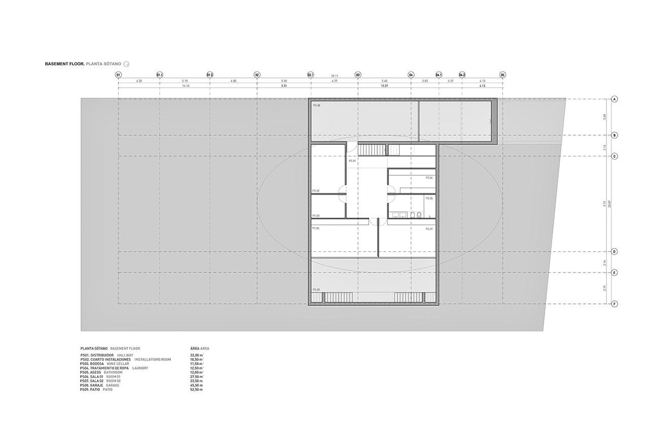 Basement Floor Plan - Casa Balint Luxury Residence - Bétera, València, Spain