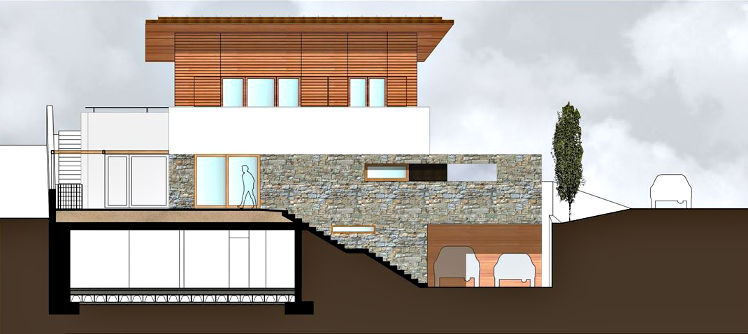 Elevations - Casa GT Luxury Villa - Postalesio, Sondrio, Lombardy, Italy