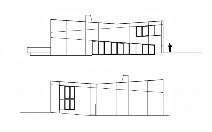 Elevations - Widlund House Luxury Residence - Öland, Kalmar, Sweden