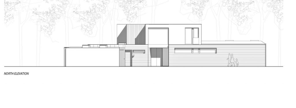 North Elevation - Villa J Residence - Sjovagen 7, Höllviken, Skåne, Sweden