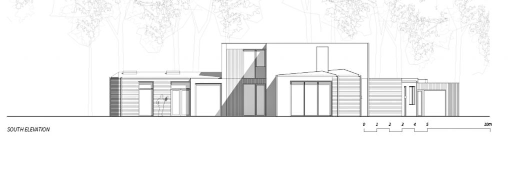 South Elevation - Villa J Residence - Sjovagen 7, Höllviken, Skåne, Sweden