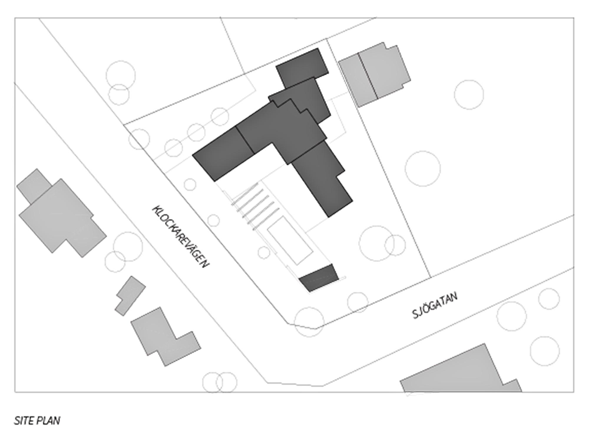 Site Plan - Villa J Residence - Sjovagen 7, Höllviken, Skåne, Sweden
