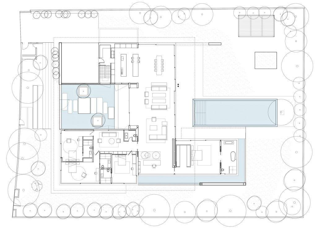 Site Plan - Float House Luxury Villa - Jaffa, Tel Aviv, Israel