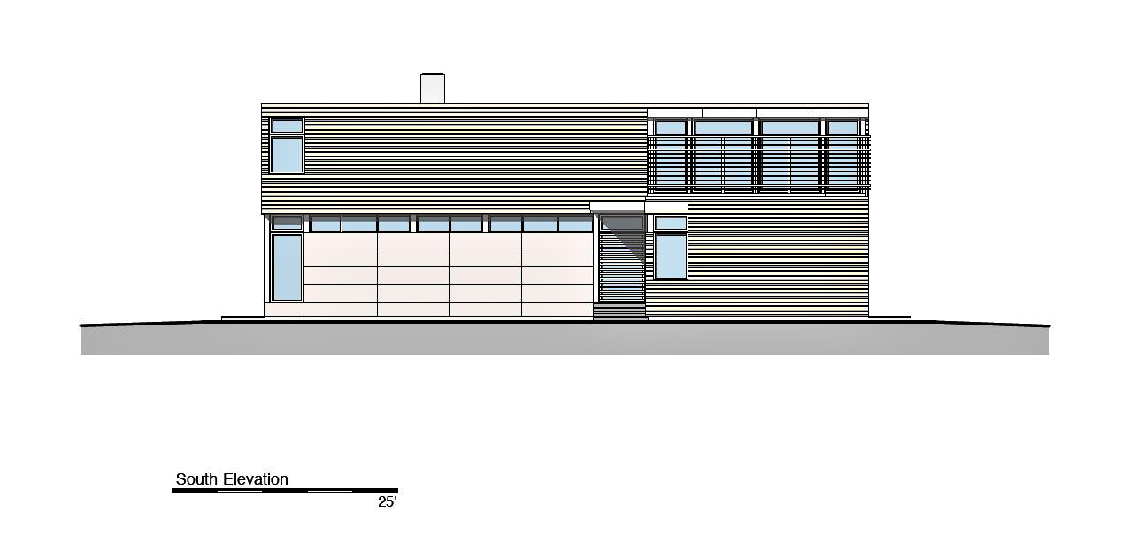 South Elevation - Peconic Bay Residence - Clearview Dr, Sag Harbor, NY, USA