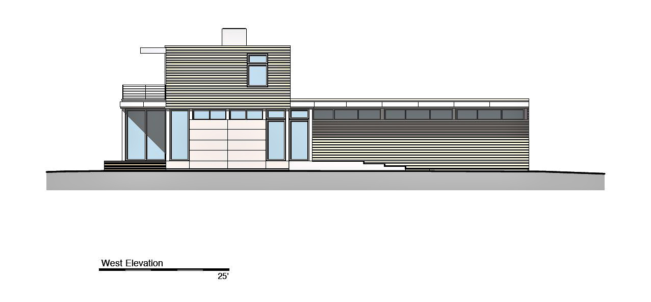 West Elevation - Peconic Bay Residence - Clearview Dr, Sag Harbor, NY, USA