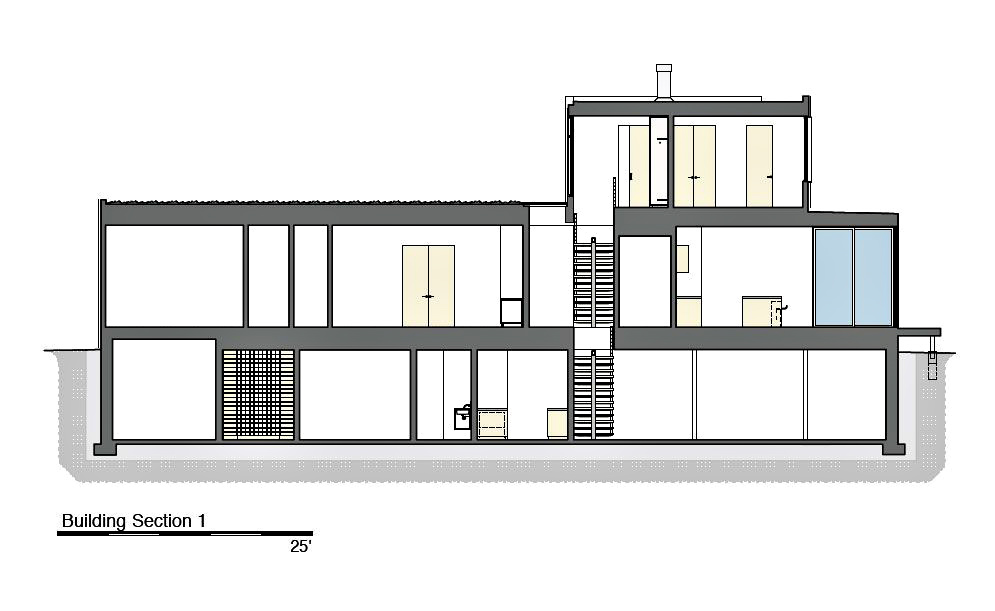 Building Section 1 - Peconic Bay Residence - Clearview Dr, Sag Harbor, NY, USA