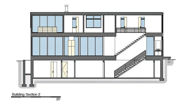Building Section 2 - Peconic Bay Residence - Clearview Dr, Sag Harbor, NY, USA